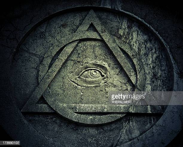 Mystic Eye symbol with interlocking circle and triangle