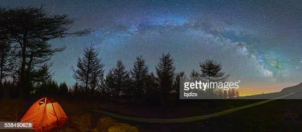 Mystical night landscape