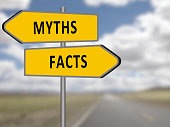 Myths or facts opposite road signs