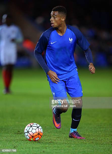 Myziane Maolida of France U18 during the U18 International Friendly match between England and France at London Road Stadium on November 14 2016 in...