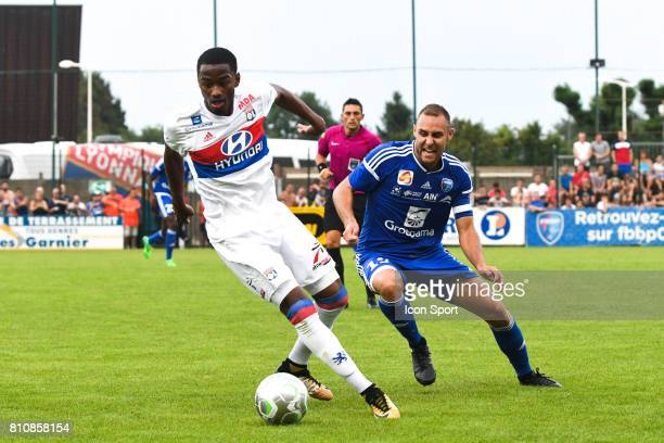 Myziane Maolida of Lyon during the friendly match between Olympique Lyonnais and BourgenBresse on July 8 2017 in Peronnas France