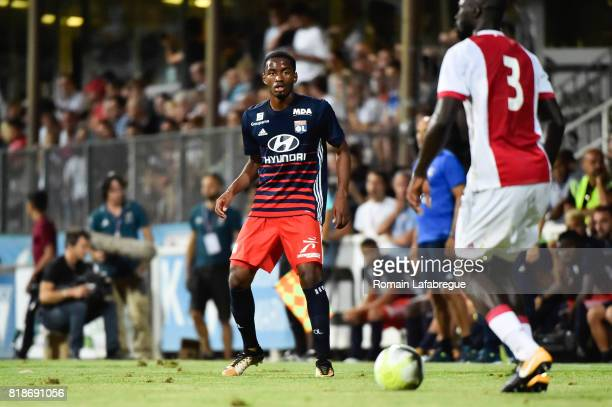 Myziane Maolida of Lyon during the friendly match between Olympique Lyonnais Lyon and Ajax Amsterdam on July 18 2017 in BourgoinJallieu France