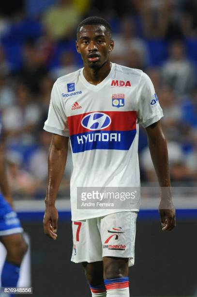 Myziane Maolida of Lyon during the Ligue 1 match between Olympique Lyonnais and Strasbourg at Parc Olympique on August 5 2017 in Lyon