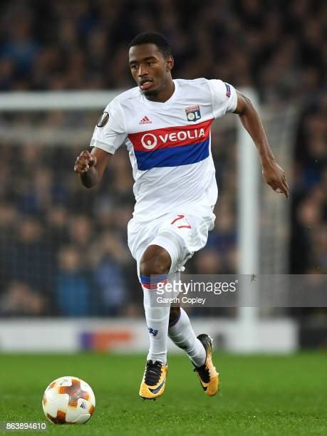 Myziane Maolida of Lyon during the UEFA Europa League group E match between Everton FC and Olympique Lyon at Goodison Park on October 19 2017 in...