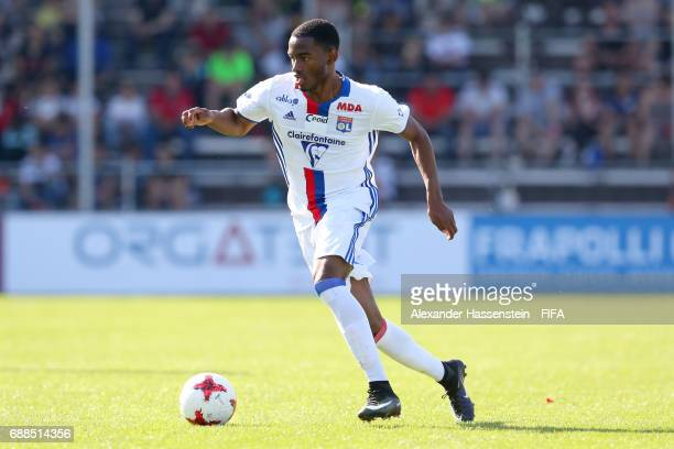 Myziane Maolida of Lyon runs with the ball during the Finale for the Blue Stars/FIFA Youth Cup 2017 between Olympique Lyon and RSC Anderlecht at day...
