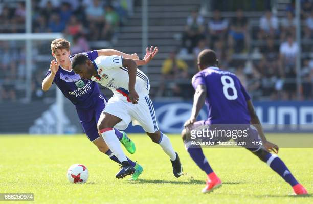 Myziane Maolida of Olympique Lyonnais makes a run during the Final match between Olympique Lyon vs RSC Anderlecht on day two of the Blue Stars/FIFA...