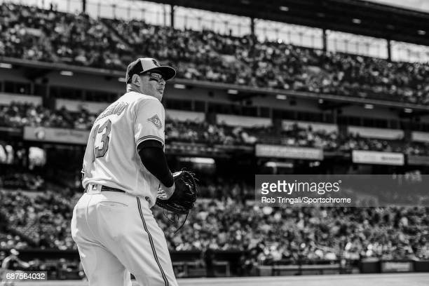 'n Manny Machado of the Baltimore Orioles looks on during the game against the Chicago White Sox at Camden Yards on May 7 2017 in Baltimore Maryland