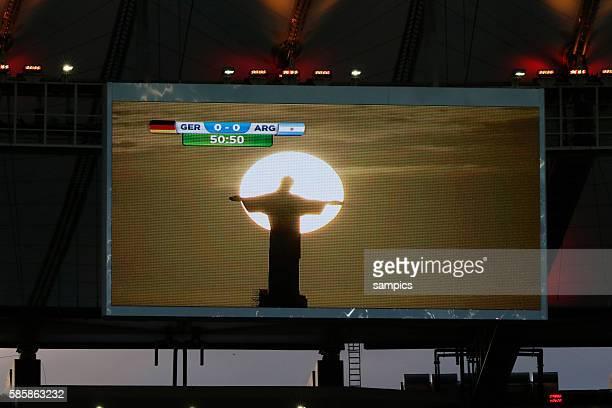 Jesusstatue im Abendhimmel Fussball Weltmeister Deutschland Weltmeisterschafts Finale Deutschland Argentinien 10 n Verlängerung Finale final wolrdcup...