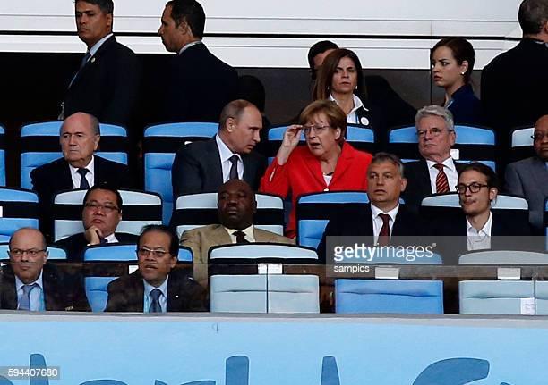 Bundespräsident Joachim Gauck und Bundeskanzlerin Angela Merkel Wladimir Putin Fussball Weltmeister Deutschland Weltmeisterschafts Finale Deutschland...