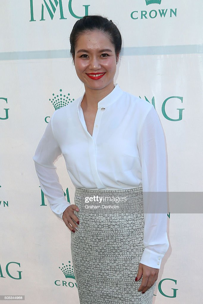 Na Li of China arrives at the 2016 Australian Open party at Crown Entertainment Complex on January 17, 2016 in Melbourne, Australia.