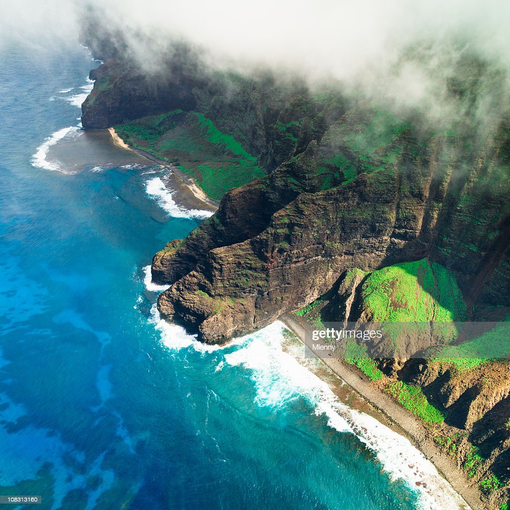 Na Pali Coast Kauai Island Hawaiian Islands : Stock Photo