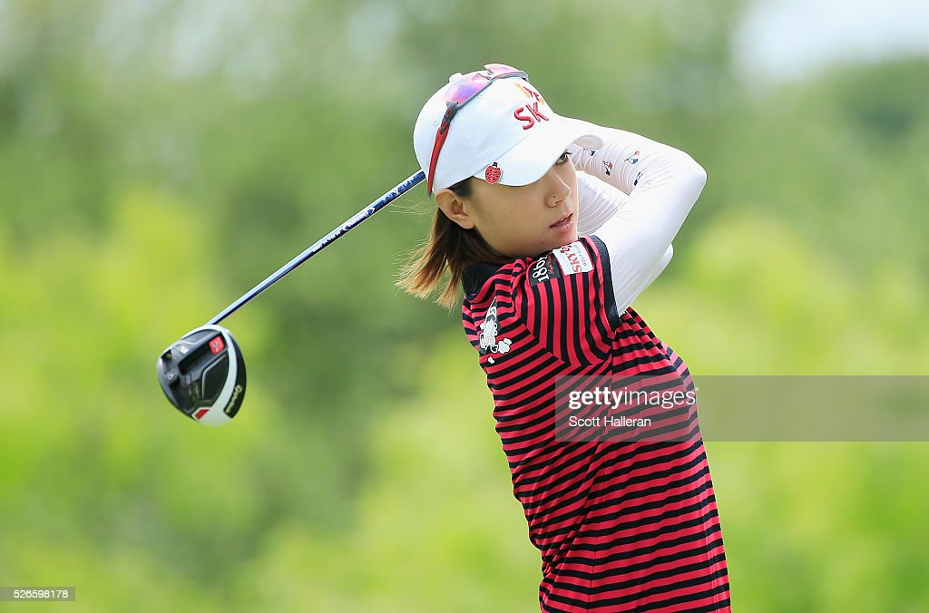 <a gi-track='captionPersonalityLinkClicked' href=/galleries/search?phrase=Na+Yeon+Choi&family=editorial&specificpeople=4979078 ng-click='$event.stopPropagation()'>Na Yeon Choi</a> of South Korea hits her tee shot on the eighth hole during the third round of the Volunteers of America Texas Shootout at Las Colinas Country Club on April 30, 2016 in Irving, Texas.