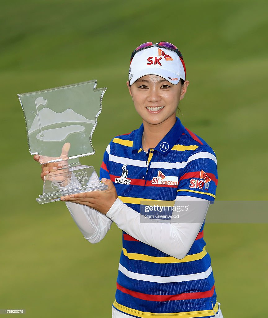 <a gi-track='captionPersonalityLinkClicked' href=/galleries/search?phrase=Na+Yeon+Choi&family=editorial&specificpeople=4979078 ng-click='$event.stopPropagation()'>Na Yeon Choi</a> of South Korea poses with the trophy after winning the Walmart NW Arkansas Championship Presented by P&G at Pinnacle Country Club on June 28, 2015 in Rogers, Arkansas.