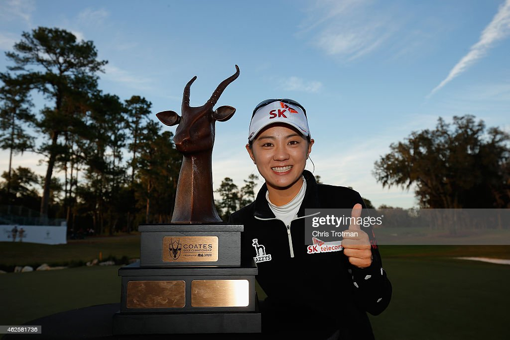 <a gi-track='captionPersonalityLinkClicked' href=/galleries/search?phrase=Na+Yeon+Choi&family=editorial&specificpeople=4979078 ng-click='$event.stopPropagation()'>Na Yeon Choi</a> of South Korea poses with the winners trophy following her victory at the Coates Golf Championship Presented by R+L Carriers at the Golden Ocala Golf & Equestrian Club on January 31, 2015 in Ocala, Florida.