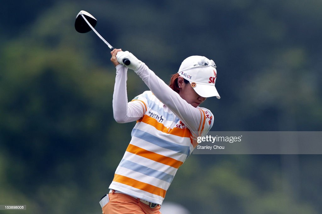 <a gi-track='captionPersonalityLinkClicked' href=/galleries/search?phrase=Na+Yeon+Choi&family=editorial&specificpeople=4979078 ng-click='$event.stopPropagation()'>Na Yeon Choi</a> of South Korea tees off on the 11th hole during day one of the Sime Darby LPGA Malaysia at Kuala Lumpur Golf & Country Club on October 11, 2012 in Kuala Lumpur, Malaysia.