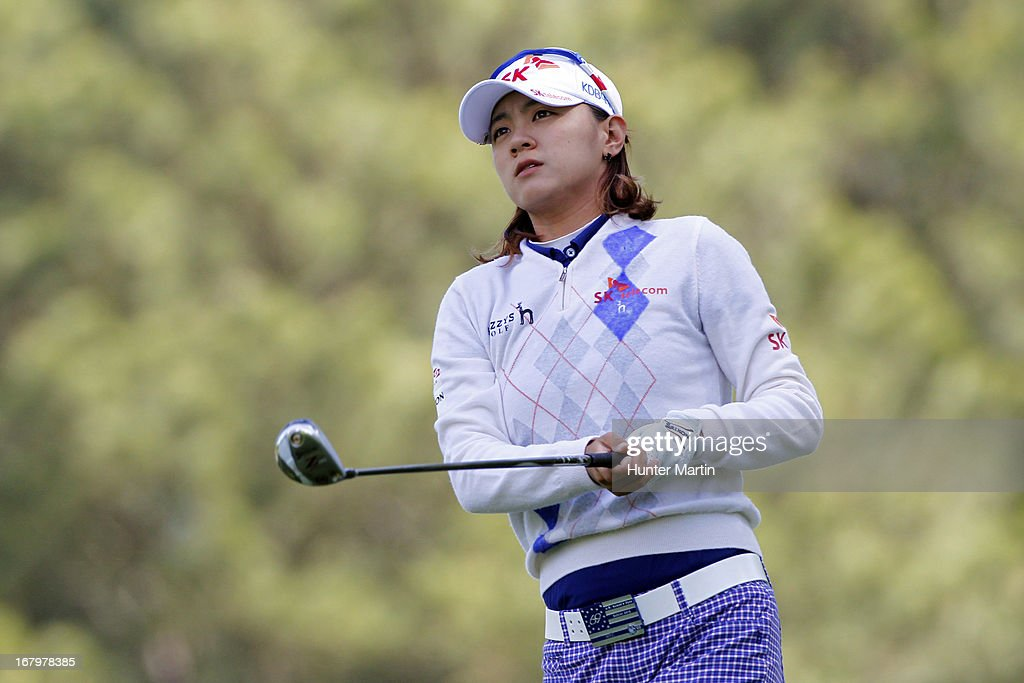 <a gi-track='captionPersonalityLinkClicked' href=/galleries/search?phrase=Na+Yeon+Choi&family=editorial&specificpeople=4979078 ng-click='$event.stopPropagation()'>Na Yeon Choi</a> of South Korea watches her tee shot on the eighth hole during the second round of the Kingsmill Championship at Kingsmill Resort on May 3, 2013 in Williamsburg, Virginia.