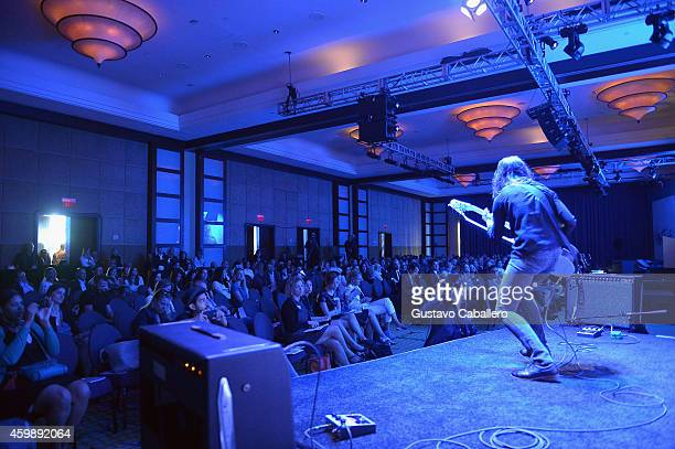 Naama Tsabar performs onstage at the The New York Times International Luxury Conference at Mandarin Oriental on December 3 2014 in Miami Florida