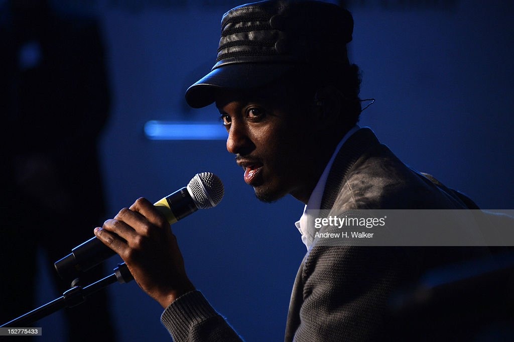 K'naan performs onstage at the United Nations Every Woman Every Child Dinner 2012 on September 25, 2012 in New York, United States.