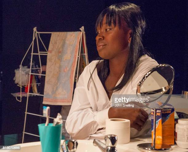 Naana AgyeiAmpadu as Vera performs on stage during performance of the 'Touch' a new play written and directed by Vicky Jones at Soho Theatre on July...
