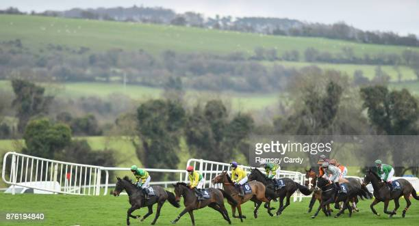 Naas Ireland 19 November 2017 A general view of the runners and riders during the steeplechase race at Punchestown Racecourse in Naas Co Kildare