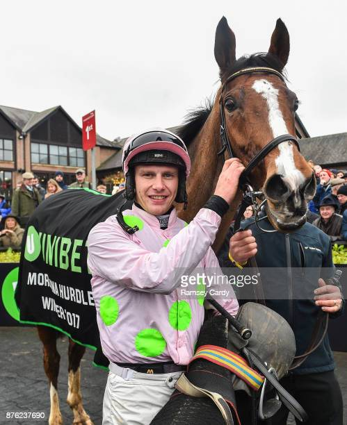 Naas Ireland 19 November 2017 Jockey Paul Townend after winning the Morgiana hurdle on Faugheen at Punchestown Racecourse in Naas Co Kildare