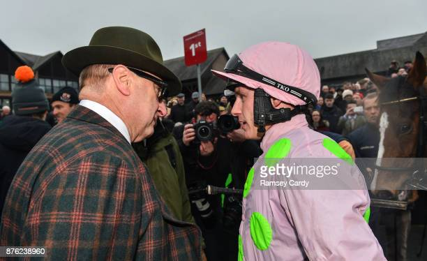 Naas Ireland 19 November 2017 Owner Rich Ricci in conversation with jockey Paul Townend after sending out Faugheen to win the Morgiana hurdle at...