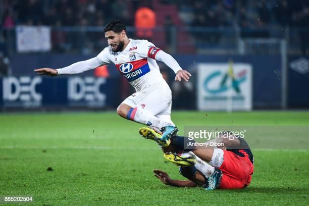 Nabi Fekir of Lyon during the Ligue 1 match between SM Caen and Olympique Lyonnais at Stade Michel D'Ornano on December 3 2017 in Caen