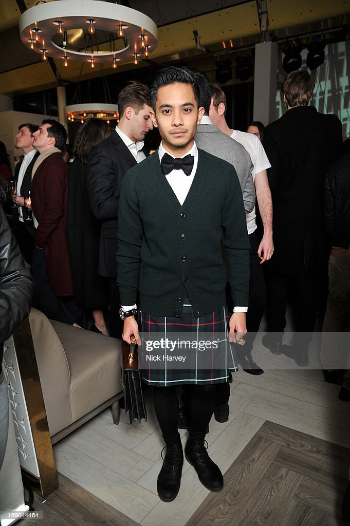 Nabil Aliffi attends the launch of 1205 Paula Gerbase Hosted By Harvey Nichols ahead of the London Collections: MEN AW13 at on January 6, 2013 in London, England.