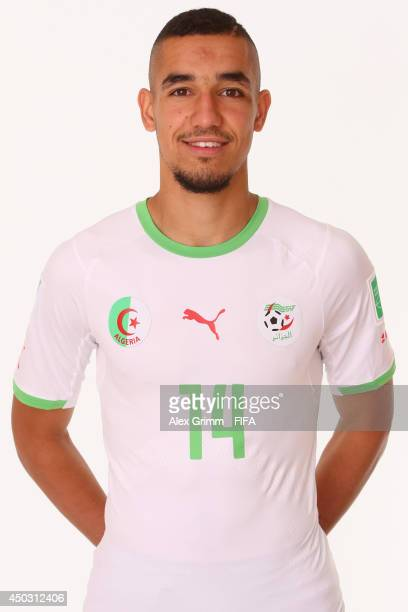 Nabil Bentaleb of Algeria poses during the official FIFA World Cup 2014 portrait session on June 8 2014 in Sao Paulo Brazil