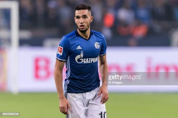 Nabil Bentaleb of FC Schalke 04 during the Bundesliga match between Schalke 04 and Bayern Munich on September 19 2017 at the VELTINSArena in...