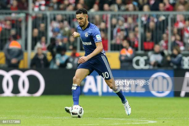 Nabil Bentaleb of FC Schalke 04 in action during the Bundesliga match between Bayern Muenchen and FC Schalke 04 at Allianz Arena on February 4 2017...