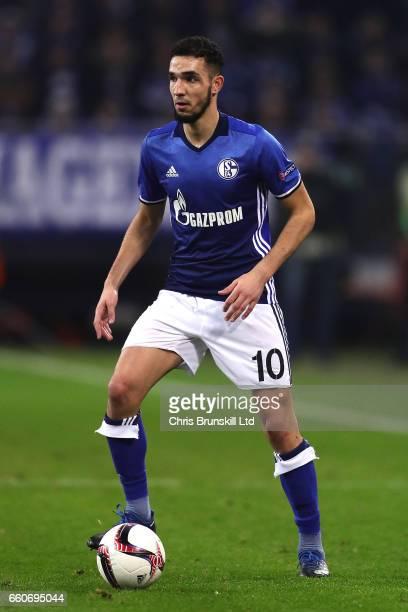Nabil Bentaleb of Schalke 04 in action during the UEFA Europa League Round of 16 first leg match between FC Schalke 04 and Borussia Moenchengladbach...