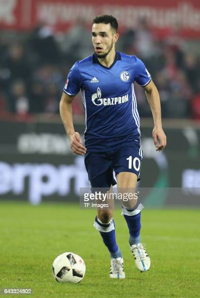 Nabil Bentaleb of Schalke in action during the Bundesliga match between 1 FC Koeln and FC Schalke 04 at RheinEnergieStadion on February 19 2017 in...
