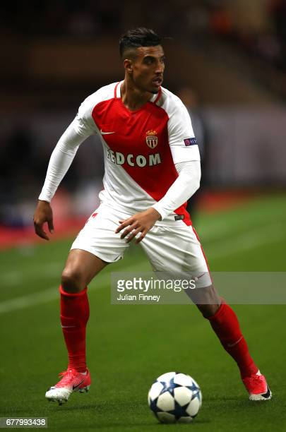 Nabil Dirar of AS Monaco in action during the UEFA Champions League Semi Final first leg match between AS Monaco v Juventus at Stade Louis II on May...