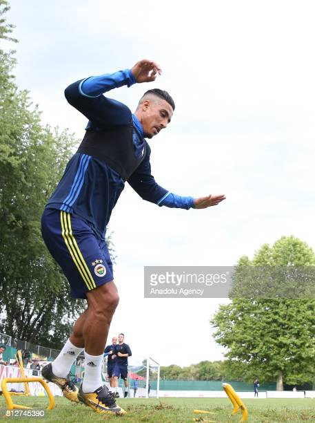 Nabil Dirar of Fenerbahce attends a training session ahead of Turkish Super Toto Super Lig 201718 in Lausanne Switzerland on July 11 2017