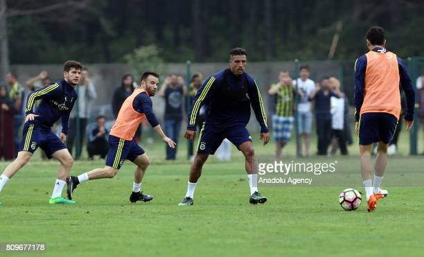 Nabil Dirar of Fenerbahce attends the club's training session ahead of Turkish Super Toto Super Lig 201718 in Duzce Turkey on July 06 2017