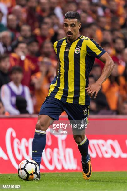 Nabil Dirar of Fenerbahce SK during the Turkish Spor Toto Super Lig football match between Galatasaray SK and Fenerbahce AS on October 22 2017 at the...