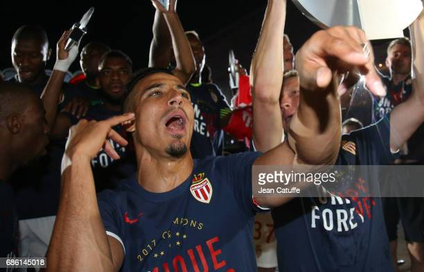 Nabil Dirar of Monaco during the French League 1 Championship title celebration following the French Ligue 1 match between AS Monaco and AS...