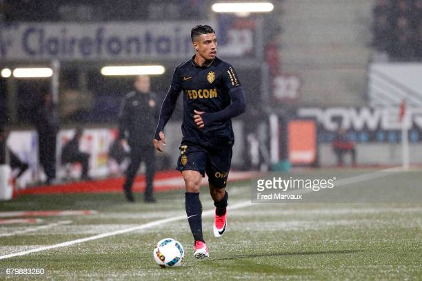 Nabil Dirar of Monaco during the Ligue 1 match between As Nancy Lorraine and As Monaco at Stade Marcel Picot on May 6 2017 in Nancy France