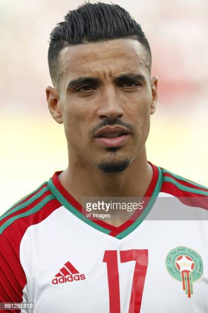 Nabil Dirar of Moroccoduring the friendly match between Morocco and The Netherlands at Grand Stade Adrar on May 31 2017 in Agadir Morocco