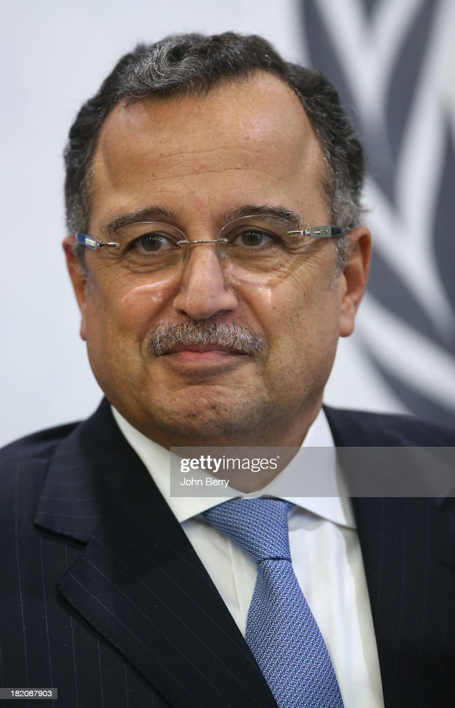 Nabil Fahmy, Minister for Foreign Affairs of Egypt attends the 68th session of the United Nations General Assembly on September 27, 2013 in New York City.