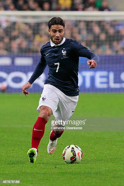 Nabil Fekir of France controls the ball during the international friendly game between France and Brazil at Stade de France on March 26 2015 in Saint...