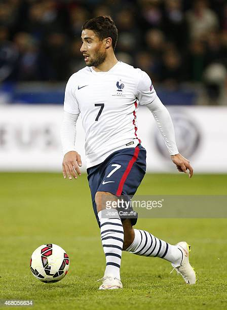 Nabil Fekir of France in action during the international friendly match between France and Denmark at Stade GeoffroyGuichard on March 29 2015 in...