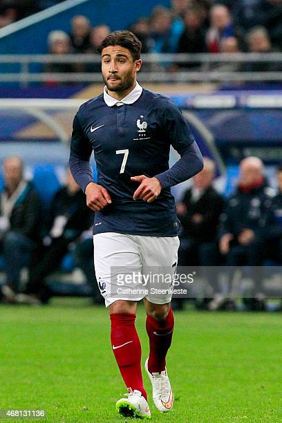 Nabil Fekir of France is on field for his first selection during the international friendly game between France and Brazil at Stade de France on...