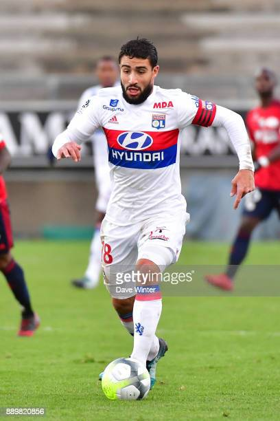 Nabil Fekir of Lyon during the Ligue 1 match between Amiens SC and Olympique Lyonnais at Stade de la Licorne on December 10 2017 in Amiens France