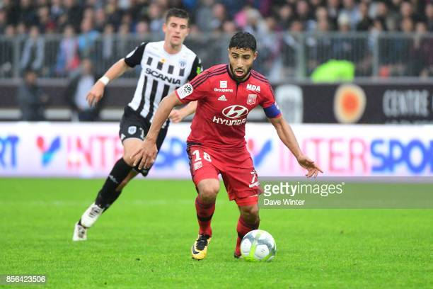Nabil Fekir of Lyon during the Ligue 1 match between Angers SCO and Olympique Lyonnais at Stade Raymond Kopa on October 1 2017 in Angers France