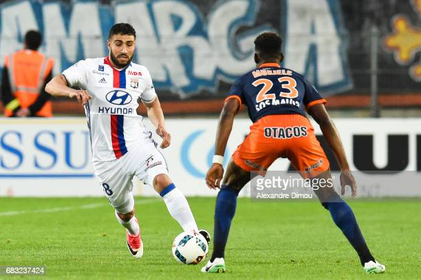 Nabil Fekir of Lyon during the Ligue 1 match between Montpellier and Olympique Lyonnais Lyon at Stade de la Mosson on May 14 2017 in Montpellier...
