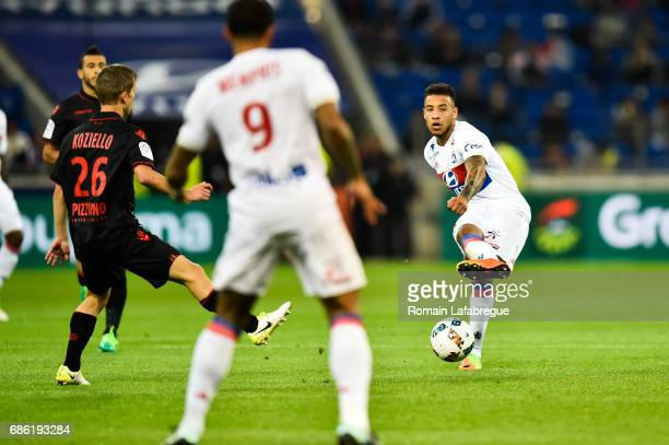 Nabil Fekir of Lyon during the Ligue 1 match between Olympique Lyonnais and OGC Nice at Stade des Lumieres on May 20 2017 in Decimes France