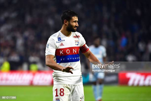 Nabil Fekir of Lyon during the Ligue 1 match between Olympique Lyonnais and AS Monaco at Stade des Lumieres on October 13 2017 in Lyon