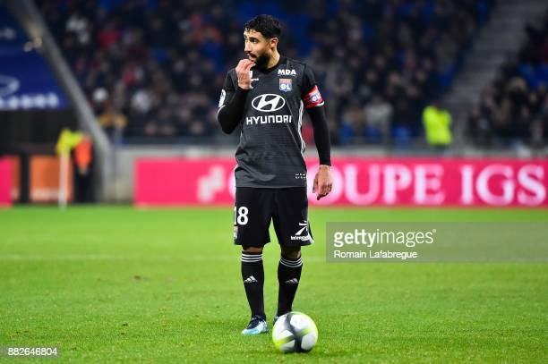 Nabil Fekir of Lyon during the Ligue 1 match between Olympique Lyonnais and Lille OSC at Parc Olympique on November 29 2017 in Lyon